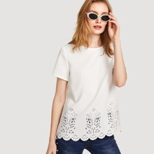 - Scalloped Laser Cut Top
