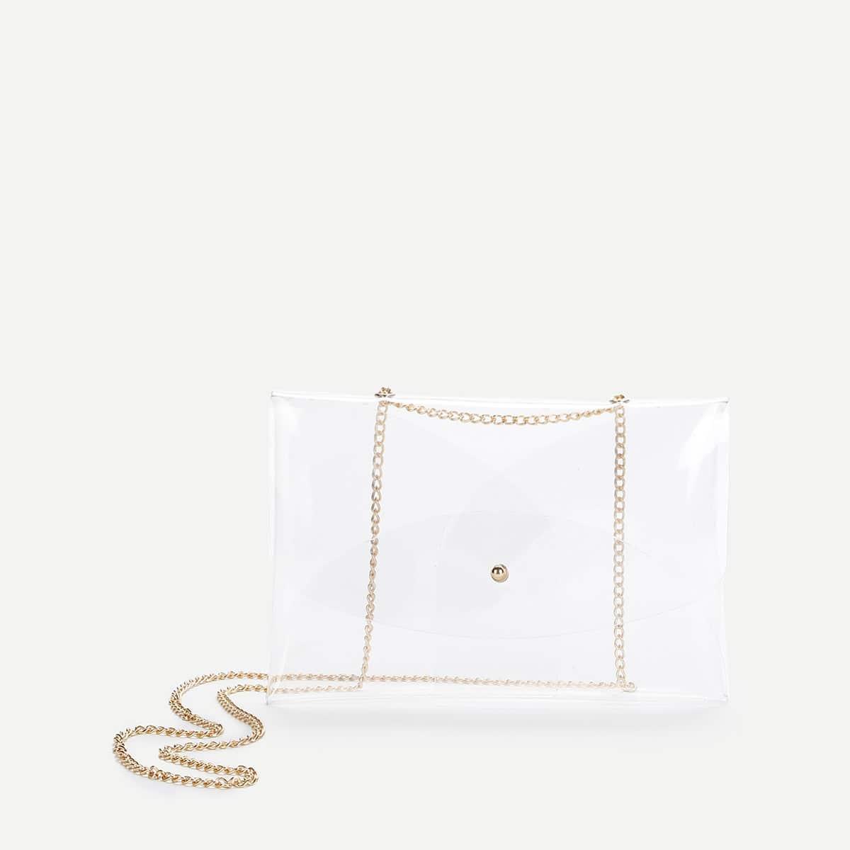- PVC Clear Crossbody Chain Bag