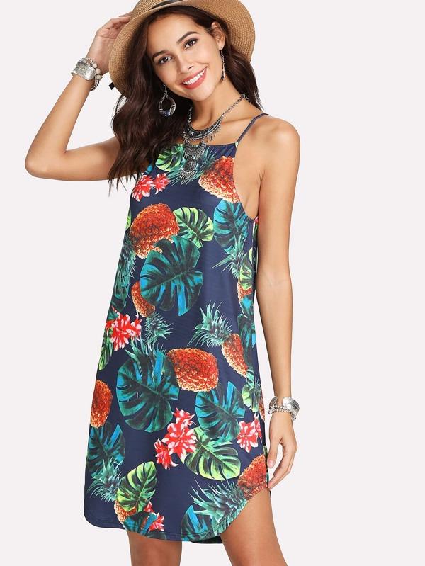 Robe imprime tropical