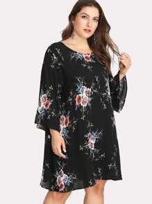 flower print tunic dress