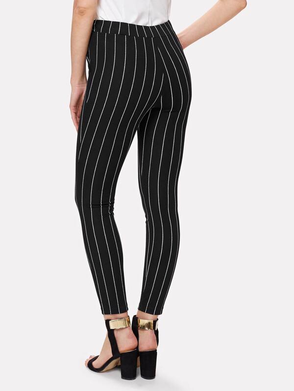 35b2a4ebb Vertical Striped Skinny Pants   SHEIN