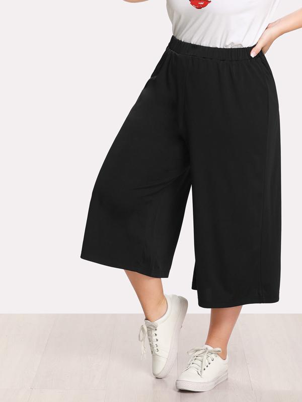 635ac1046ab Cheap Plus Elastic Waist Culotte Pants for sale Australia