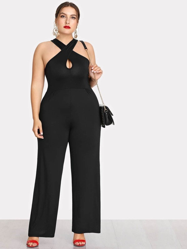 df14c3f150d6f Cheap Plus Criss Cross Front Wide Leg Jumpsuit for sale Australia ...