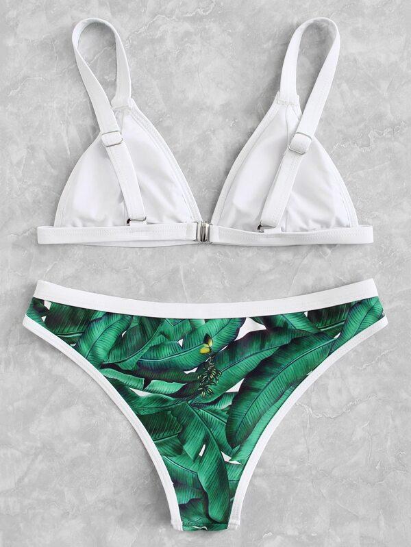 Tropical print bikini