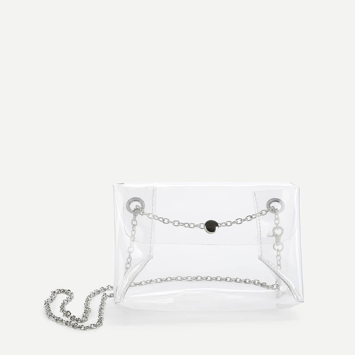 - PVC Clear Shoulder Bag