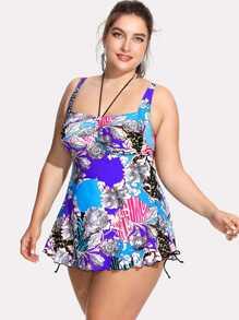 floral print swim dress set