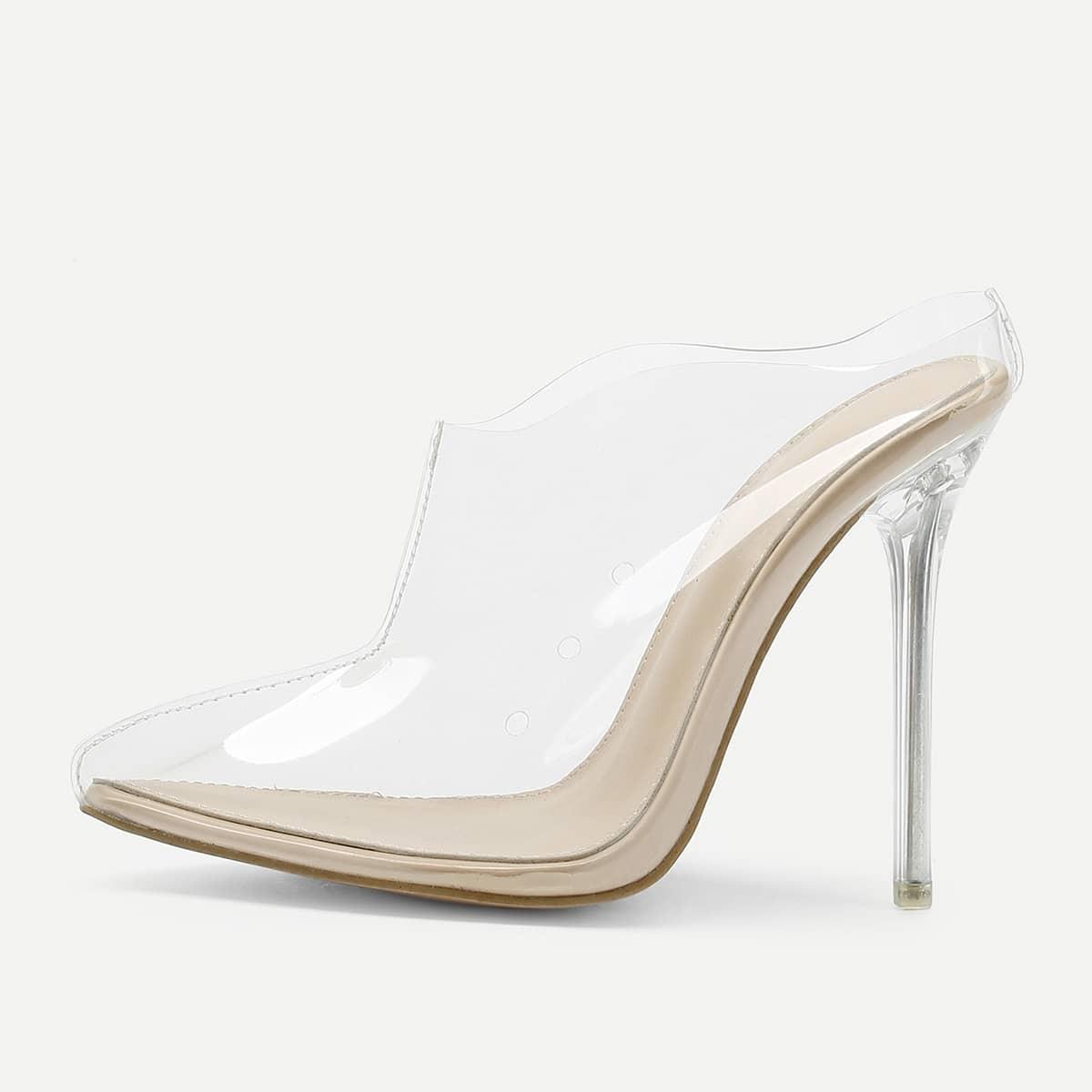 - Transparent PVC Stiletto Heels