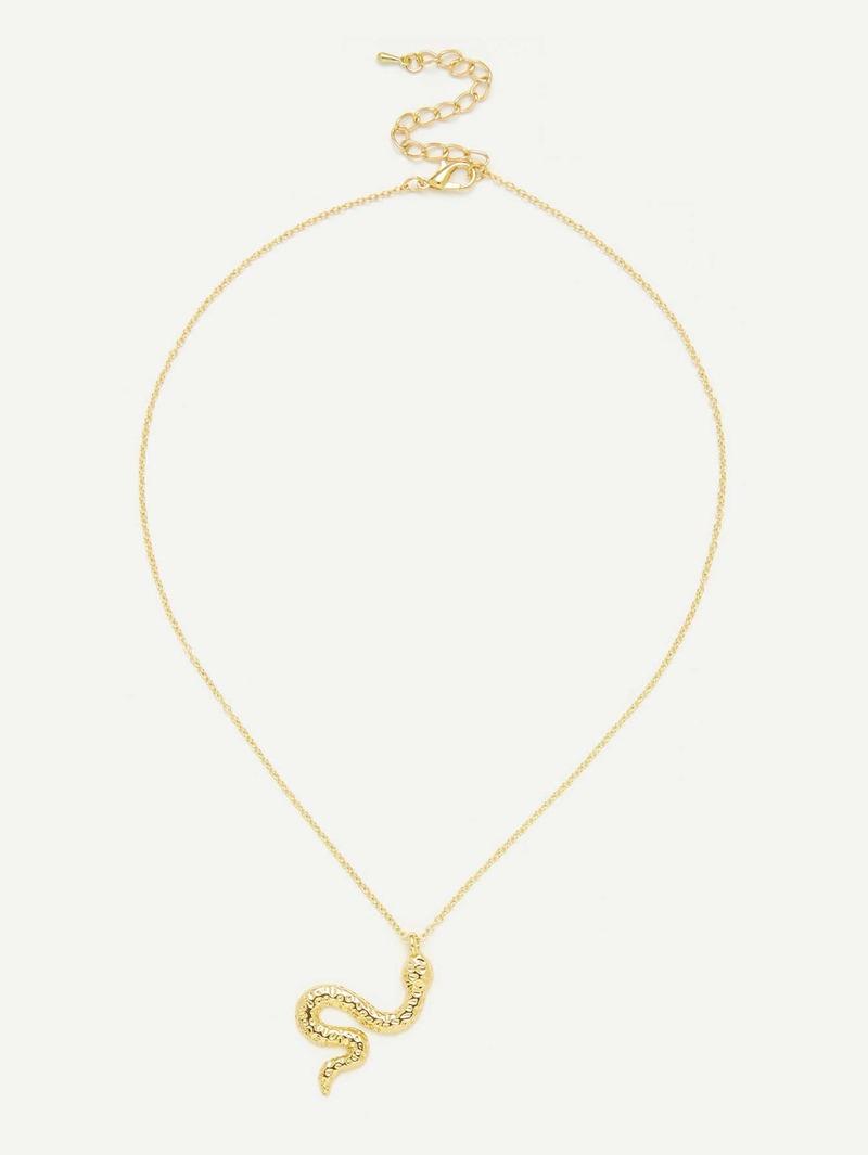 auténtico auténtico Venta de descuento 2019 vívido y de gran estilo Collar de cadena colgante de serpiente metálica