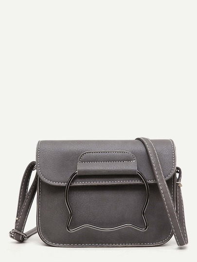 Top Stitch Crossbody Bag With Ear Handle