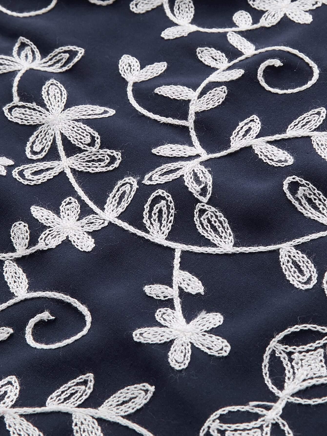grande taille robe imprim e des fleurs avec ceinture et la pile inclin e french shein sheinside. Black Bedroom Furniture Sets. Home Design Ideas
