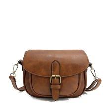 SHEIN | Buckle Detail Saddle Bag | Goxip