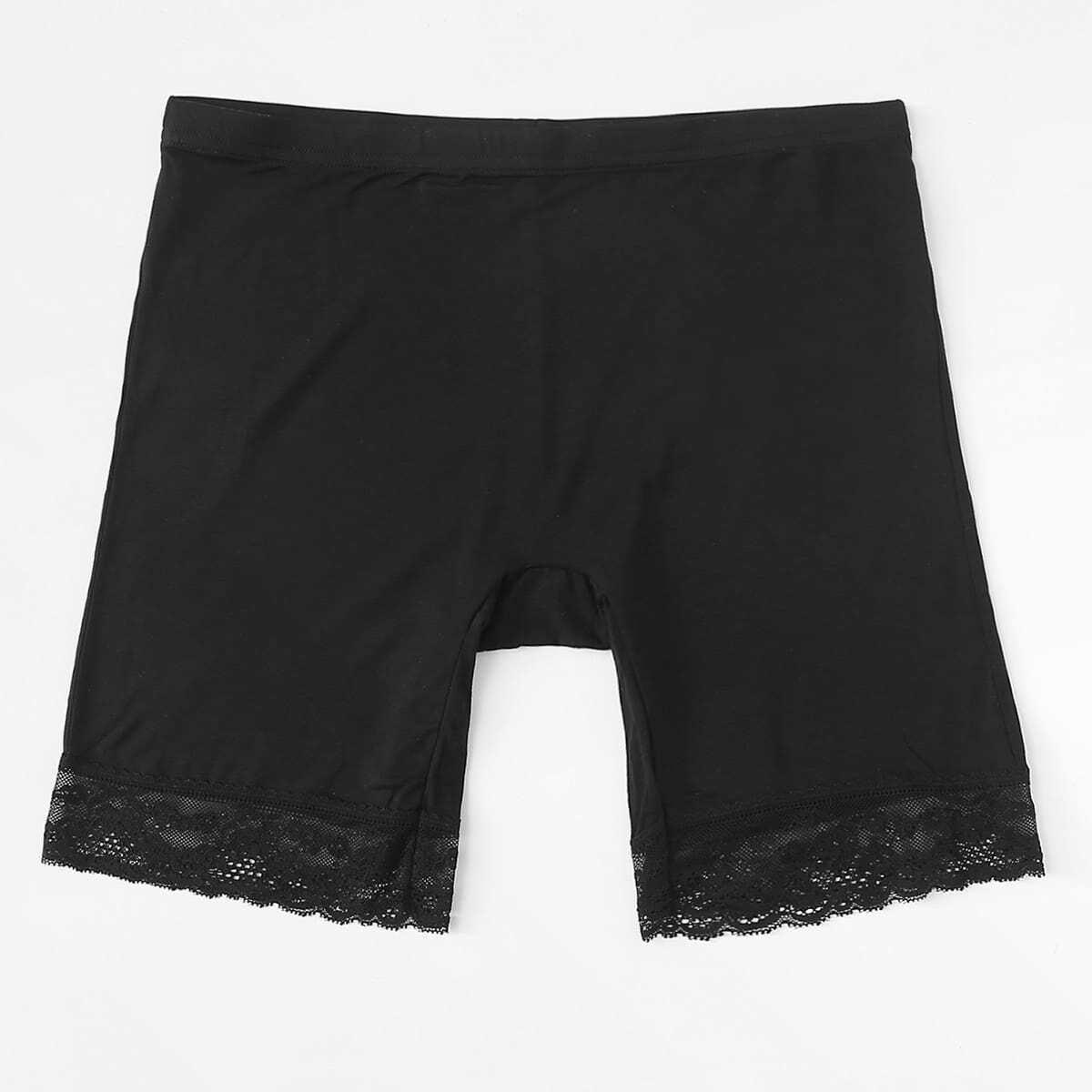 - Lace Hem Shortie Shorts
