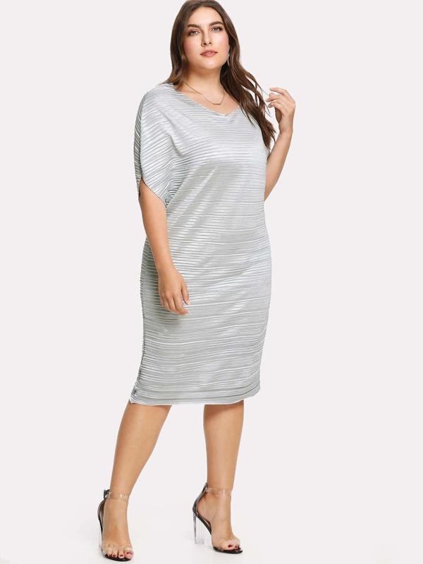 b9c455e3f80 Plus Dolman Sleeve Ruched Dress