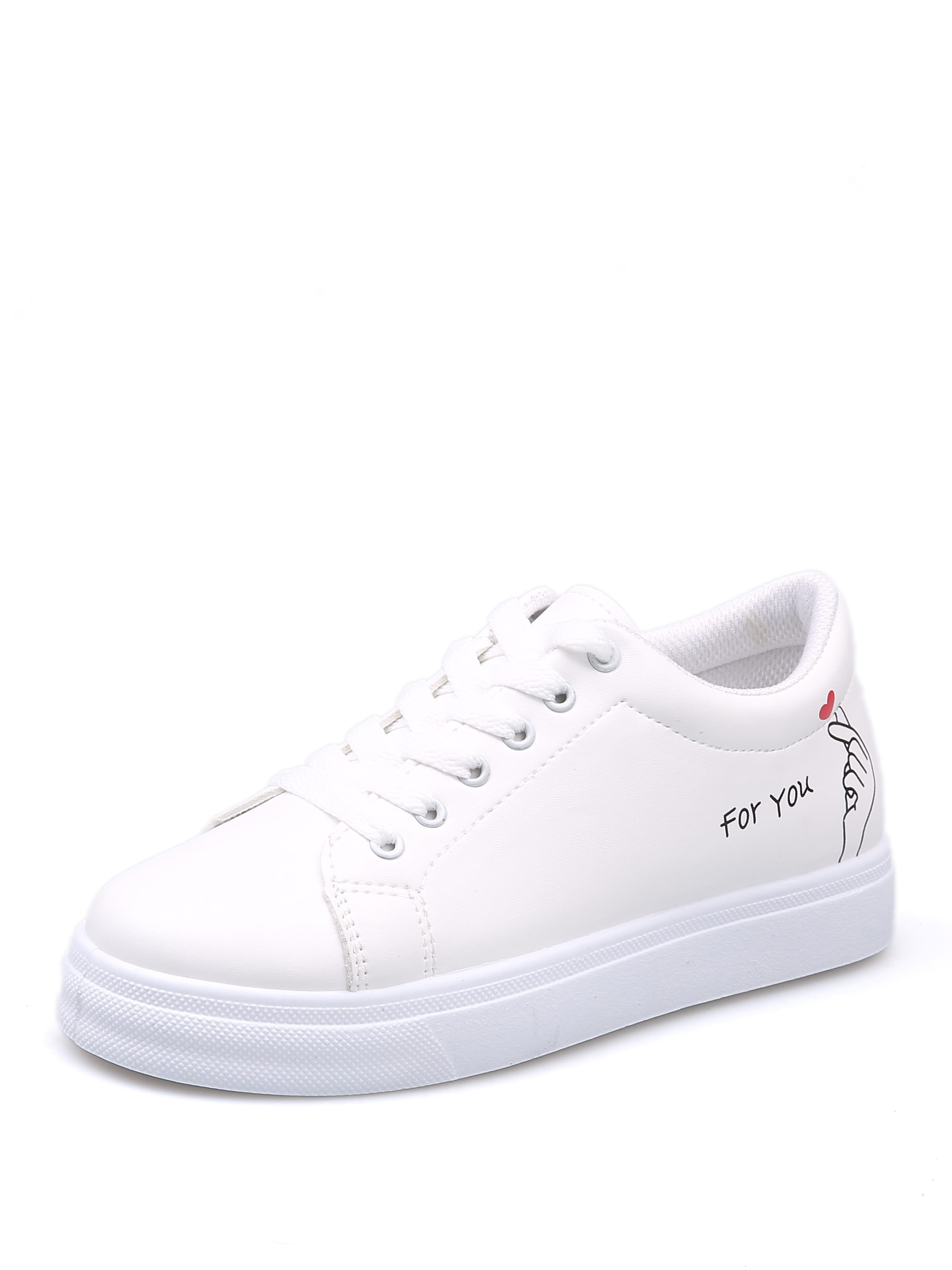 99712fb4f66 Cartoon Lace Up Sneakers EmmaCloth-Women Fast Fashion Online