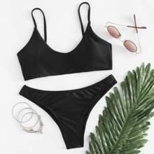 Cami Drawstring Bikini Set swimwear180321327