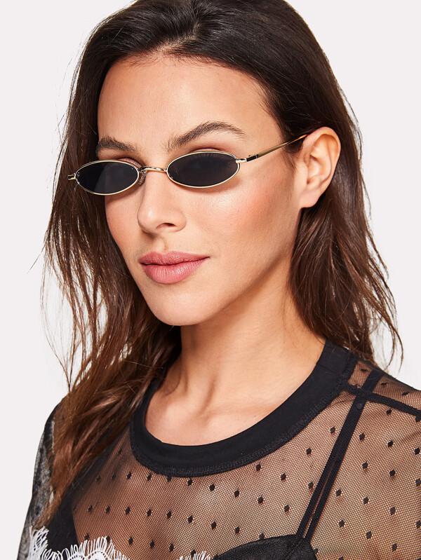 ef5488b1d83 Metal Frame Flat Lens Sunglasses