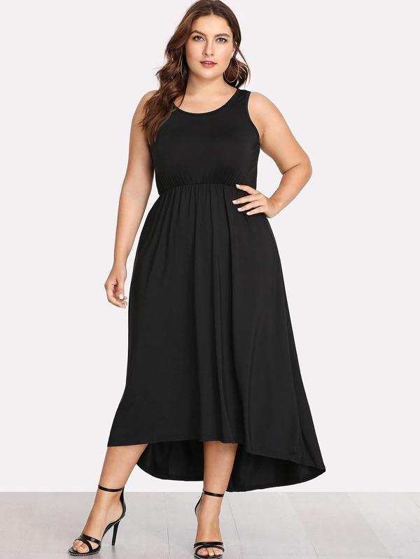 c622f17cdbe Cheap Plus Solid Color Dip Hem Dress for sale Australia
