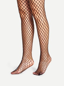 Plain Fishnet Tights