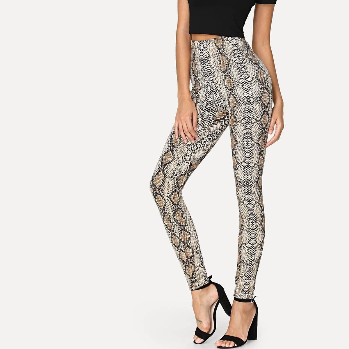 - Snake Skin Print Leggings