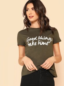 Good Things Take Time Print Tee
