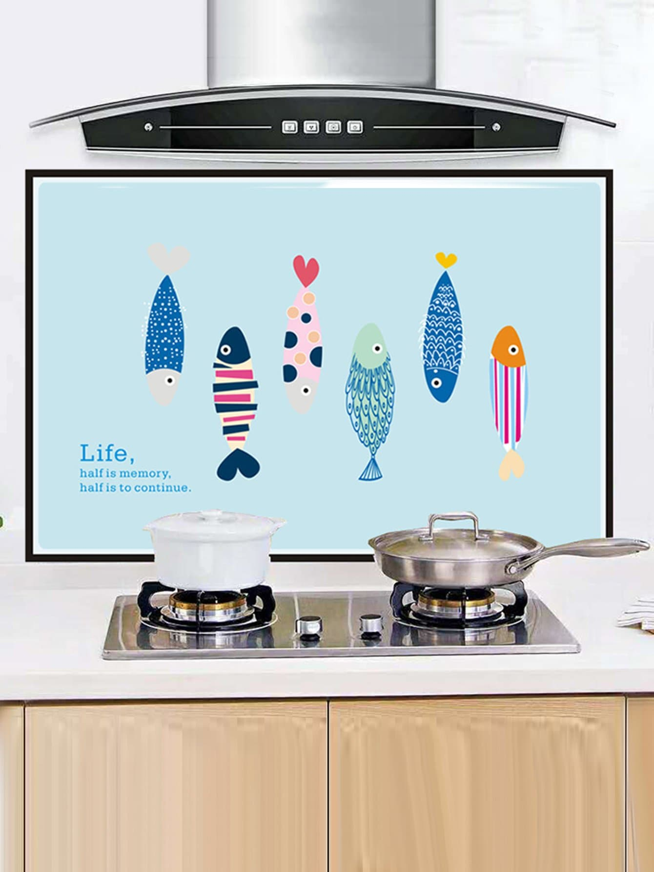 Pegatina de cocina de dibujos animados impermeable spanish romwe - Pegatinas para cocinas ...