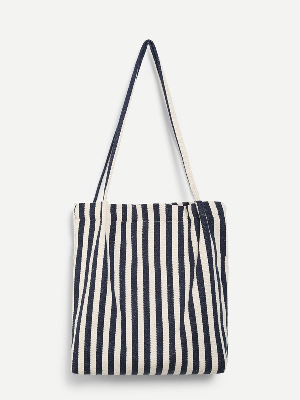c40ebc82c Striped Canvas Tote Bag | SHEIN UK