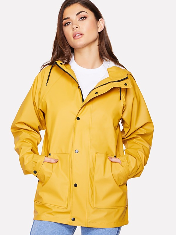 9e252f5539 Waterproof Hooded Rain Jacket