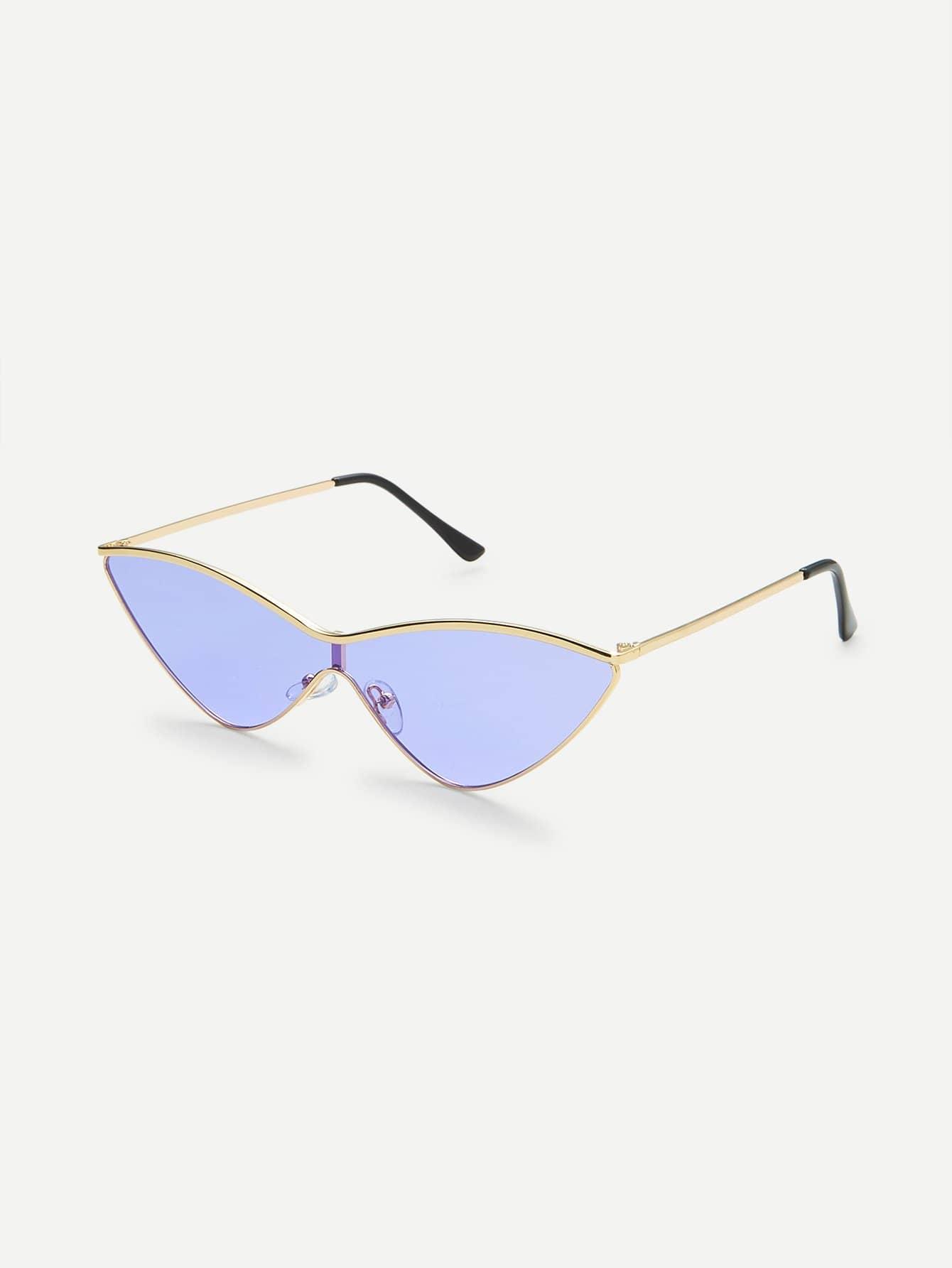 Sonnenbrille mit Metall Rahmen und Katzeaugen - German romwe