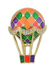 Hot Air Balloon Drop Oil Brooch