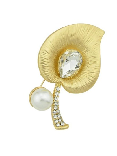 Flower Diamond Brooch