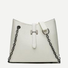 Pebble Detail Chain Shoulder Bag
