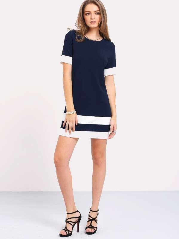 aed2c3aeca Cheap Color Block Stripe Shift Dress for sale Australia