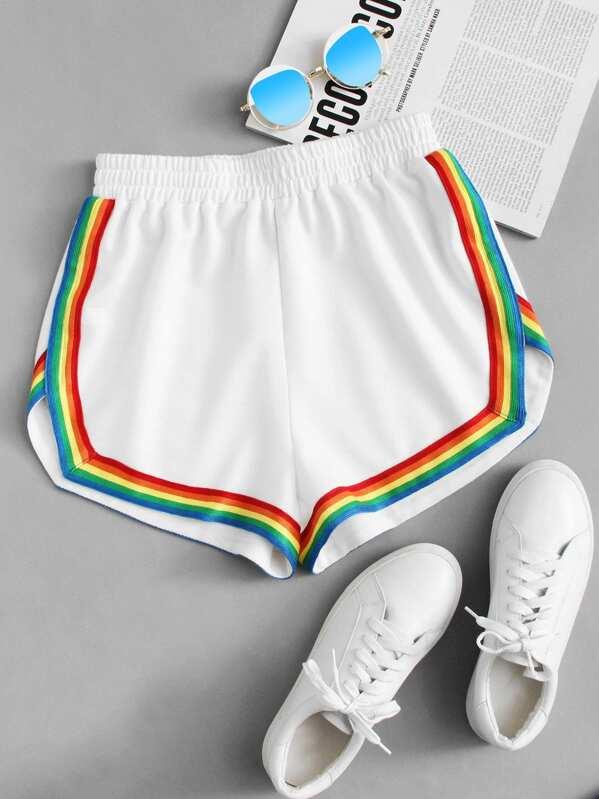 c0112a8f003 Cheap Rainbow Tape Trim Dolphin Shorts for sale Australia