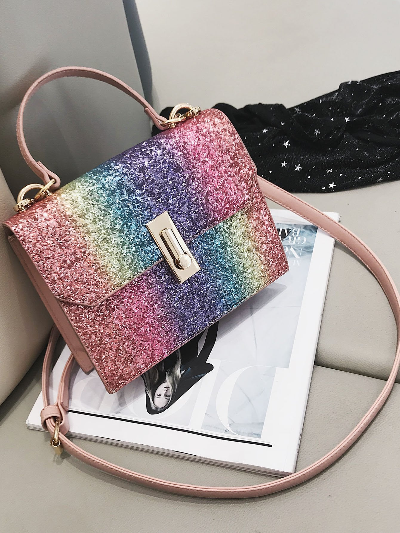 543dc83059 Rainbow Glitter Grab Bag | SHEIN UK
