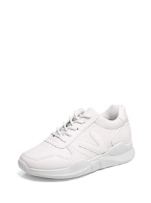 Patch Panel Lace Up Trainers
