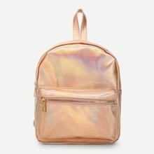 Laser Pocket Front Backpacks Bag