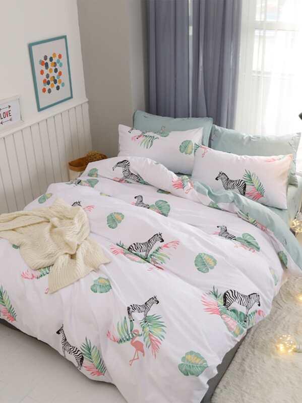 Zebra Print Bedding Set