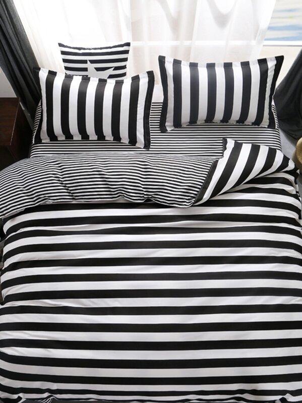 Copripiumino 250 X 215.Modern Striped Duvet Cover Set