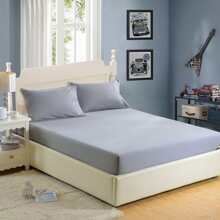 Simple Solid Full Covered Bed Cover fittedsheet17122711