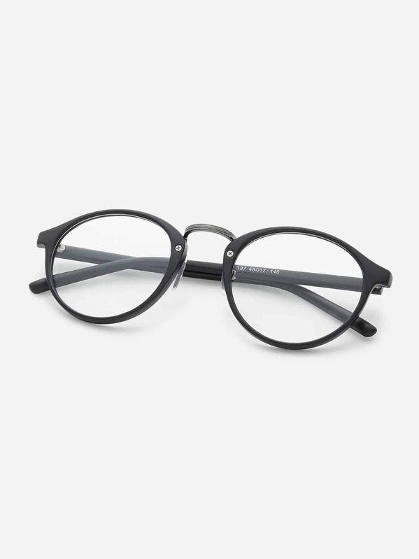 ba53462bb819 Black Frame Clear Lens Glasses   SHEIN