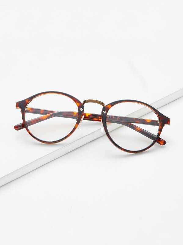 am besten bewerteten neuesten Geschäft 2019 Ausverkauf braune Kunststoff Leopard Fassungen Runde Brille