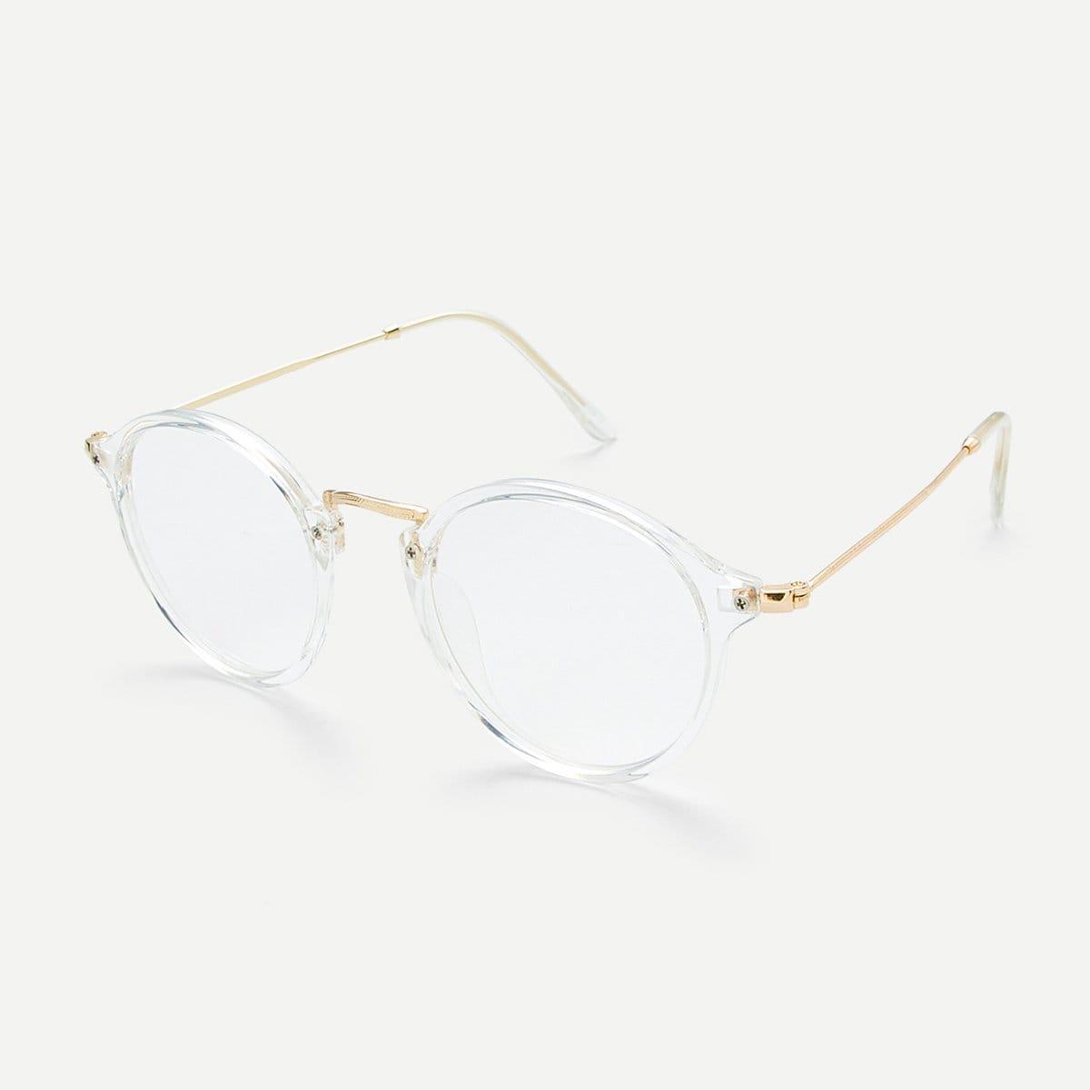 - Transparent Frame Metal Top Bar Glasses