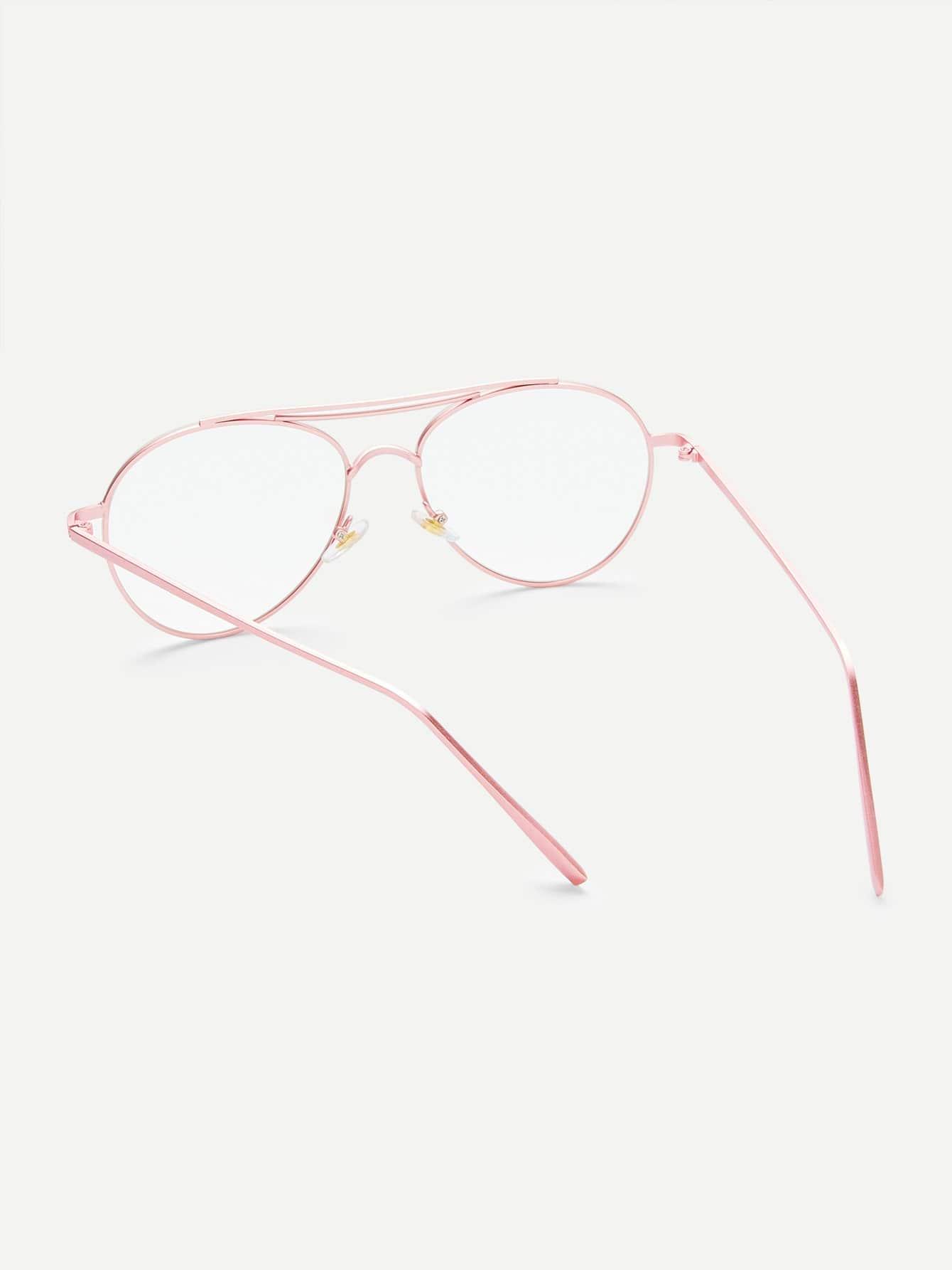 Gafas estilo aviador con lentes transparentes -Spanish Romwe