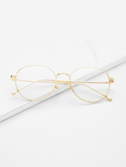 Metal Frame Clear Lens Glasses