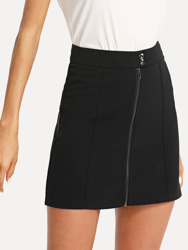 f0013f43f3 Cheap Zip Front A-Line Skirt for sale Australia | SHEIN