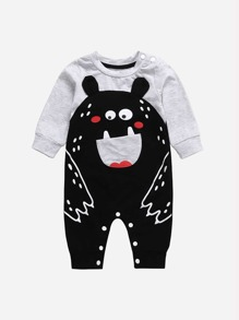 Toddler Boys Cartoon Bear Romper