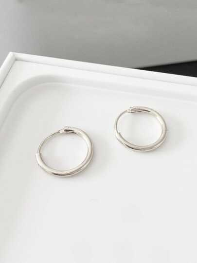 Simple Hoop Earrings 1pair