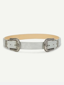 Double Western Buckle Belt