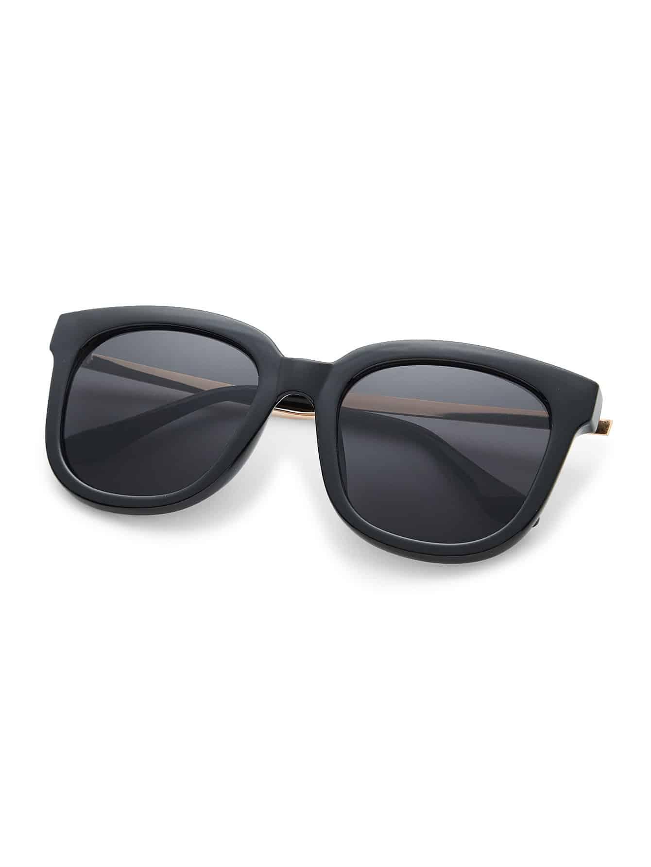 Übergroße Sonnenbrille quadratisch und im Retro Look- German romwe
