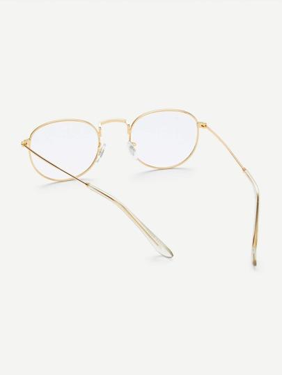 eeaf0161f13 Gold Frame Clear Lens Glasses -ROMWE